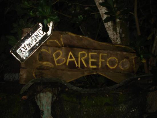 Tisa's Barefoot Bar: Sign