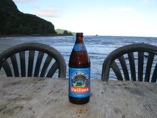 Pago Pago, Samoa Amerika: Vailima Special Import and your view in the background