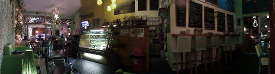 Panoramic view of Citrus Cafe at night