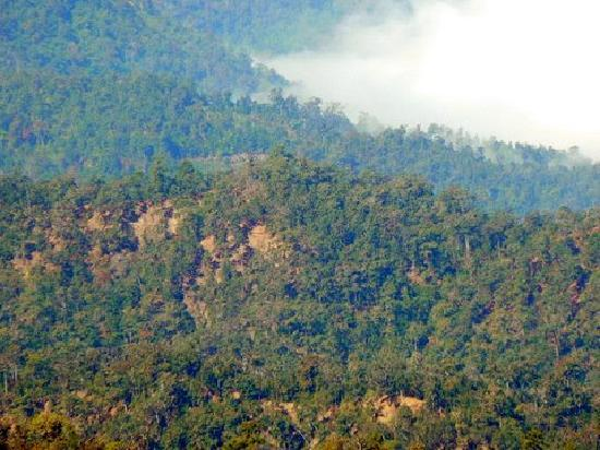 แม่สะเรียง, ไทย: View from road to villages