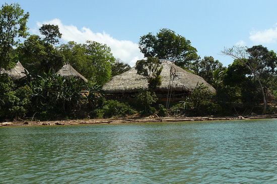 Almiza Tours by My friend Mario : Embera Indian village thatched huts