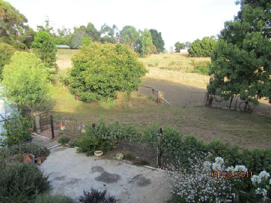 Amble at Hahndorf: Garden view from bedroom balcony