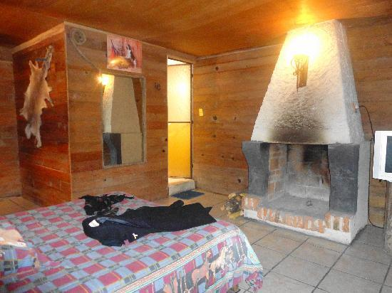 Foto de cabanas campo real puebla vista de la caba a ya for Hoteles con chimenea