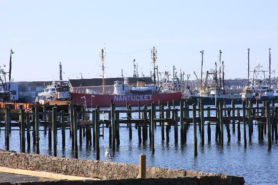 Seaport Inn and Marina: Nantucket Light Ship docked nearby