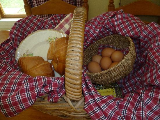 B&B Blossom Cottage: Breakfast supplies