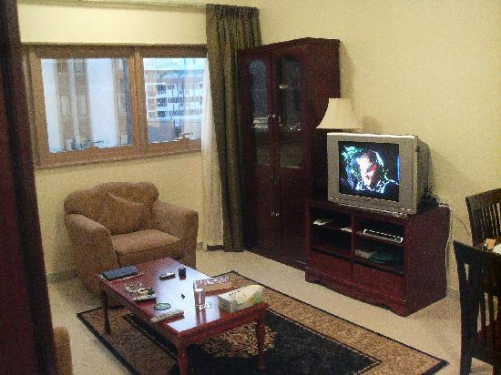 Ivory Hotel Apartments, Abu Dhabi: My comfortable living room
