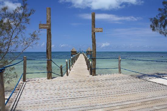 Spice Island Hotel Resort Zanzibar : Blick auf die Jetti