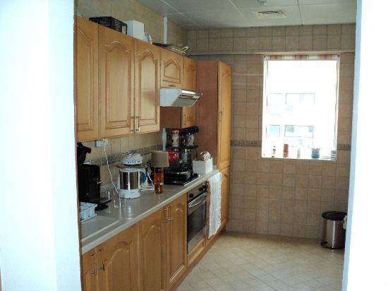 Royal Regency Hotel Apartments : Nice kitchen, pity about the gas
