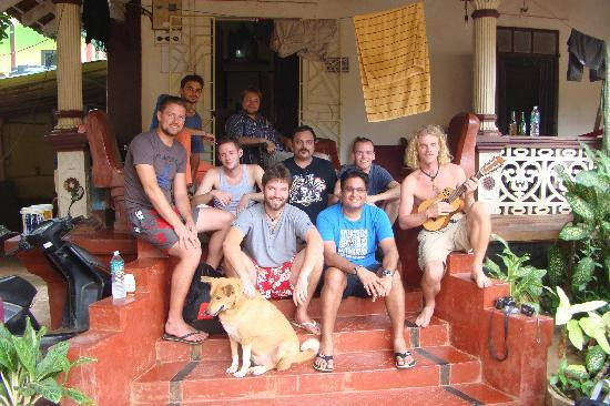 Anjuna, India: Group at Evershine Goa