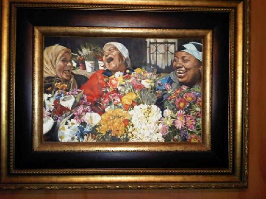 Apple Tree Guest House: The beautiful painting that greets you when you check in