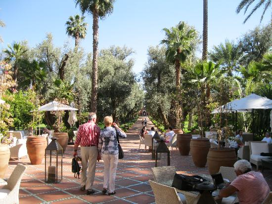 La Mamounia Marrakech: terrace to garden