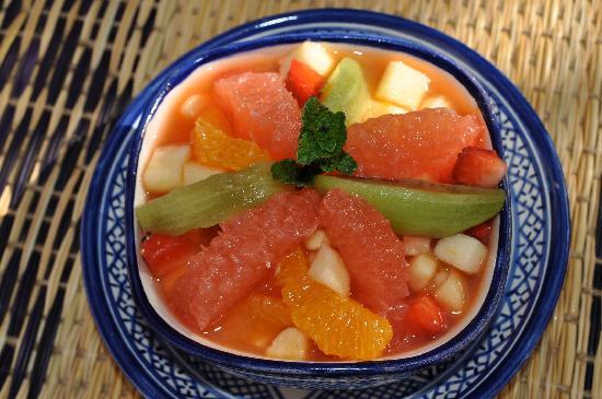 Riad Jnane Ines: belle et bonne salade de fruits