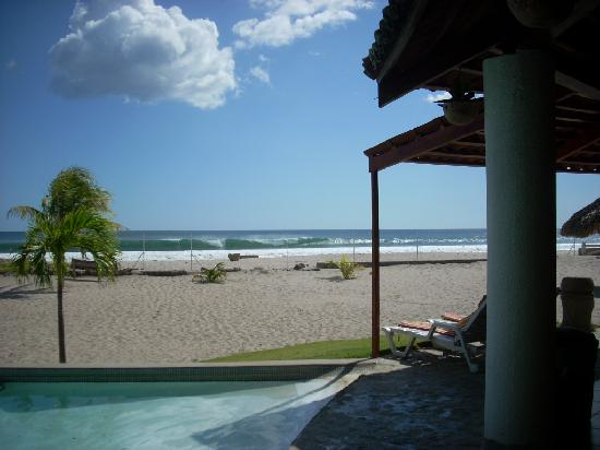 Tola, Nicaragua: Rio Colorado surf break from club house