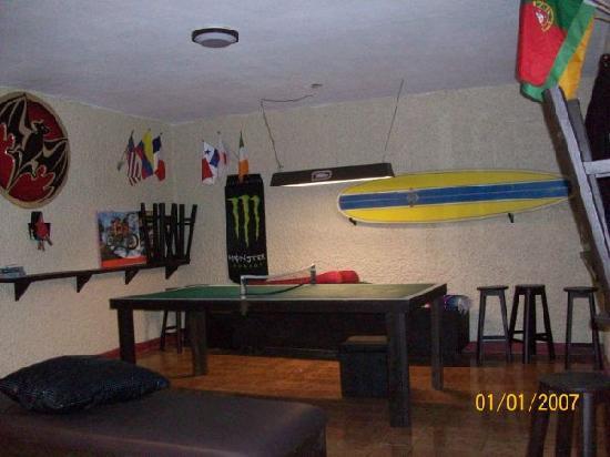 Backpacker's Hostelling Center & Champ's Sports Bar: Game Room Billiards, Ping Pong, Foosball