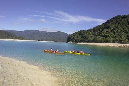 Kershaw House Boutique Accommodation: Kyaking the Abel Tasman National Park