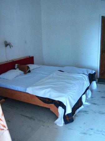 Hotel Karni Niwas: massive bed!
