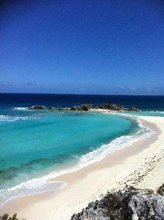 Middle Caicos: Looking down at the beach