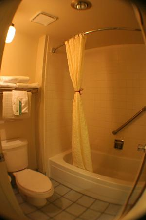 BEST WESTERN Quail Hollow Inn: Very clean- with cute bow tied on shower curtain- how thoughtful!~