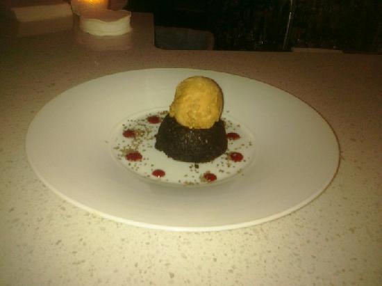 Revolution - Durham: Chocolate Cayenne Cake with Vanilla Ice Cream
