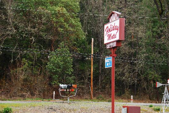 Holiday Motel: Roadside sign