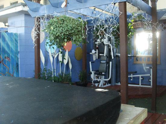 The Bridge at Cordova Boutique Hotel: Spa & exercise patio.