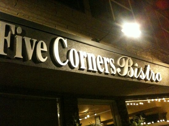 "Five Corners Bistro : Welcome to ""the Bistro"""