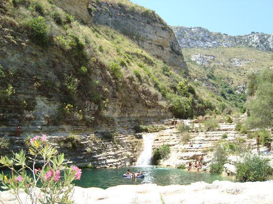 Cavagrande del Cassibile : Cava Grande, arrivés en bas