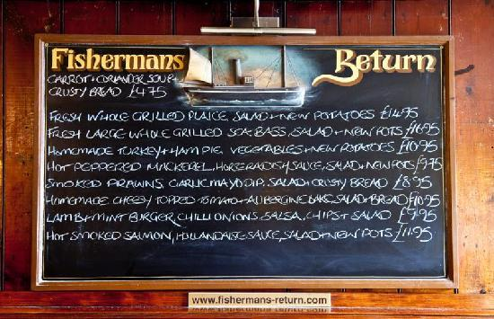 Fishermans Return: Our Specials Board