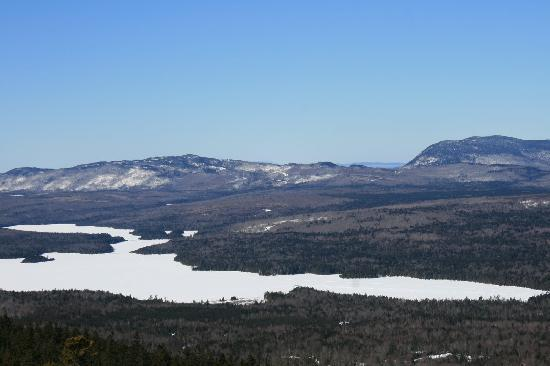 Gorman Chairback Lodge and Cabins: Long Pond from theTop of Third Mtn.