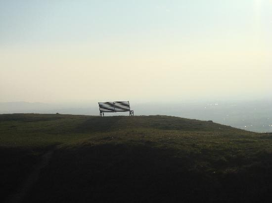 The Rising Sun Hotel: view from Cleeve Hill
