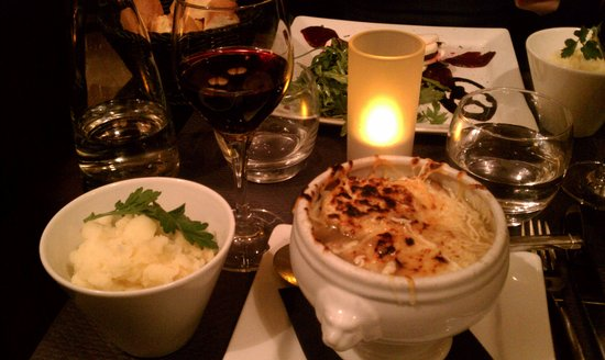 L'Imperial: Onion soup and the most delicious mashed potatoes