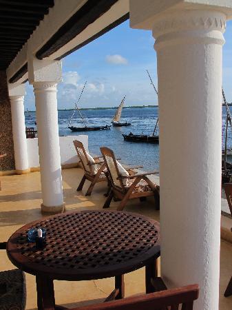 Peponi Hotel: the veranda