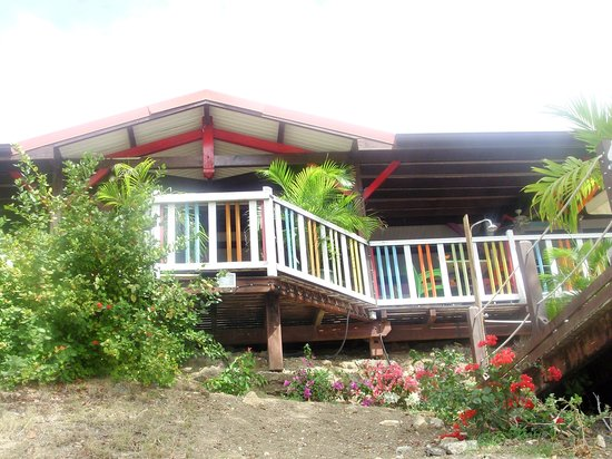 Residence de l'Anse Caritan: Restaurant sur la plage de l'hotel
