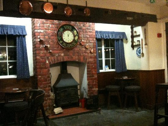 The New Inn: The fire place