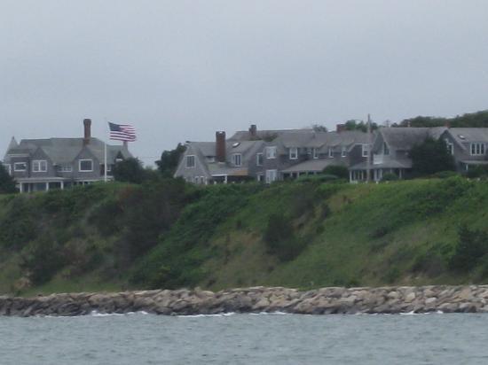 Sea Witch Sailing Charters: Coastal sail passing Oak Bluffs