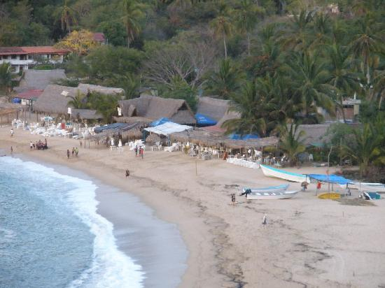 view of the beach from La Galeria