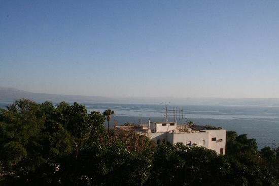 Royal Plaza: The Sea of Galilee from our room