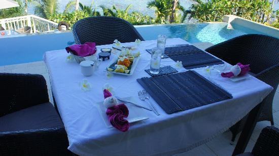 Taveuni Palms Resort: Table Service every meal