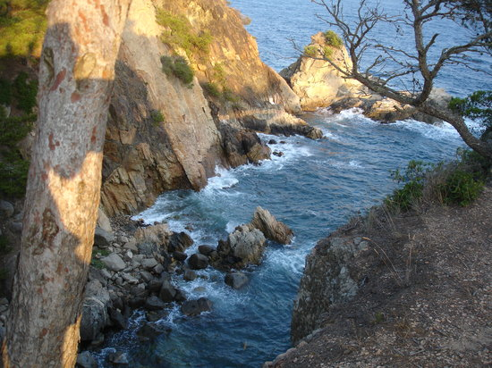 Calella de Palafrugell, España: Haut plage Castell