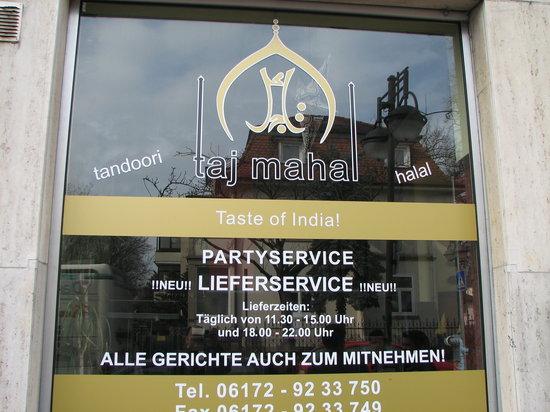 Taj Mahal: TajMahal Indian hotel @ Bad Homburg
