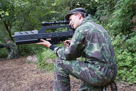 Battlefield Live Pembrokeshire Laser Combat: Defending the flight box