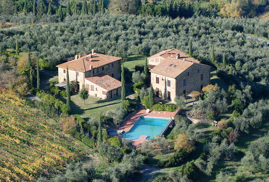 Montaione, อิตาลี: Vista aerea di Rigone