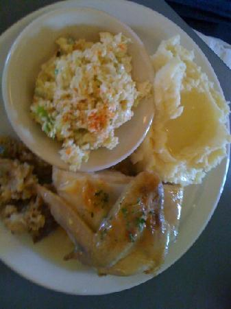 Smoky Junction Restaurant: daily special-roast chicken with 2 sides