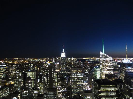 Rockefeller Center : sunset view from top