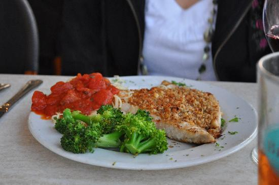 O.C. White's Seafood & Spirits: Grouper with Italian bread crumbs