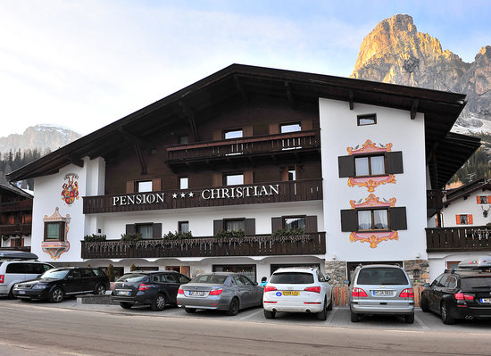 Corvara, Italien: The front biew