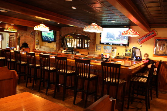 Leandro's Restaurant & Sports Bar: The bar featuring several big screen HDTV's. Happy Hour from 4-6 Monday-Friday