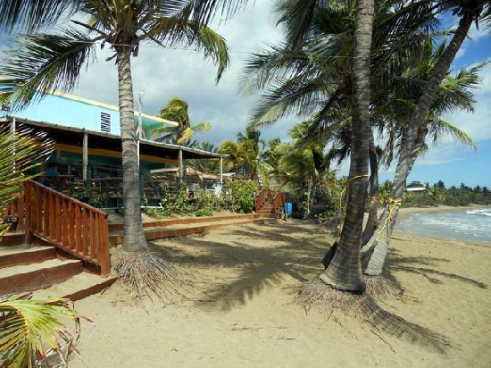 Guayama, Portorico: Vista desde la parte posterior hacia el interior del restaurante