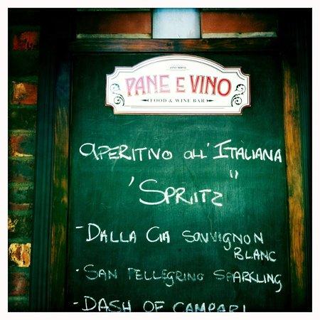 Pane E Vino: Home away from home...