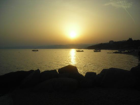 Ouranoupoli, Griechenland: tramonto